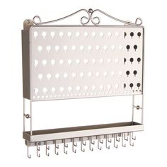 Wall Mount Earring Holder Organizer Storage Rack Jewelry Display 6