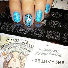 """"""" #nailstampingart #nailstamping #naillandmani #moyou #moyoulondon #enchanted #moyra"""""""