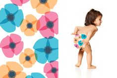 Honest Diapers in Poppies #ClassicCollection #effective #safe  #delightful