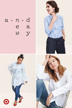 These menswear-inspired tops are crisp with classic tailoring, but styled with a chic, feminine twist. Featuring delicate floral details, bell sleeves and tie-waists, they're a more interesting take on the traditional button-down, and still so wearable—for work or everyday.