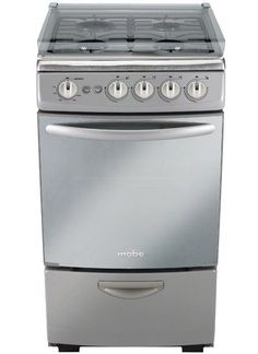 Whirlpool Silver 4 Burner Stove With Broiler And 13 Cubit