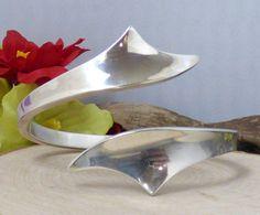 Vtg. C. Antonsen 925S Sterling Silver Modernist Cuff Bracelet; Denmark!! #CAntonsenDenmark