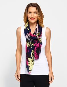 Image for Bloom Print Scarf from JacquiE