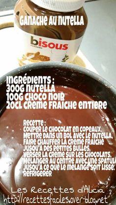 Salmon and mozzarella cake - Clean Eating Snacks Ganache Au Nutella, Desserts Nutella, Ganache Frosting, Nutella Cake, Mousse, Sweet Recipes, Cake Recipes, Drop Cake, Cake Toppings