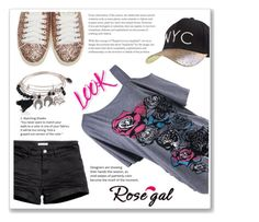 """""""Rosegal 12."""" by ruza-b-s ❤ liked on Polyvore featuring Yves Saint Laurent, H&M and NYX"""