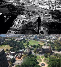 View of Hyde Park and The Domain from [Stuart McPherson > Phil Harvey. By Phil Harvey] Phil Harvey, Sydney City, Hyde Park, City Photo, History, Historia