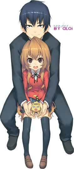 Render Animes et Manga - Renders aisaka taiga takasu ryuuji toradora