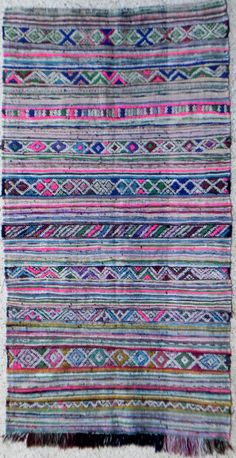 Large vintage Moroccan rug woven by hand from by MoroccanTribal, $340.00