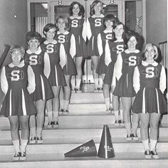 Varsity cheerleaders, Stony Brook University, 1966. Photo from SBU Archives. #seawolves #stonybrook #stonybrooku #seawolvesread #tbt #cheer #cheerleaders