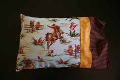 Cowboy Up Travel Pillowcase by RusticRanchHands on Etsy