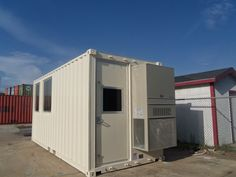 20' high cube container conversion for MCC. Notice the 8'h Tidalwave™mandoor for equipment installation--yes, we can do that!