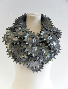 Necklace | Nathan Pass ~ one6design.  Hand stiched fabric manipulation