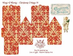Wings of Whimsy Christmas Cottage 22 of 25 Free Printable 3d Cottage Printing all 25 now for my next year tree :-)