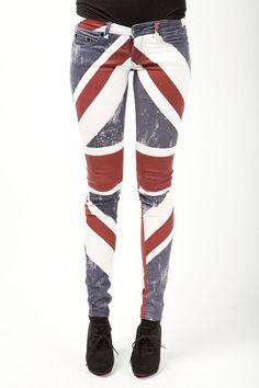 The Trend - Printed Jeans/Pants - Zie hier de Religion UK Flag Pants.