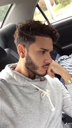 curly hairstyles for men | curly top with undercut sides…