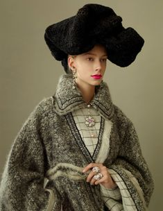 Model Kelli Lumi in Chanel for the Northern Women in Chanel Book by Peter Farago and Ingela Klemetz Farago
