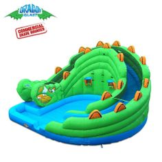 Dragon Blast Commercial Wet Dry Obstacle Slide by Blast Zone - Bounce Houses Now Commercial Water Slides, Inflatable Obstacle Course, Freight Truck, Zone 5, Wet And Dry, Things That Bounce, Dragon, Bounce Houses, 72 Hours