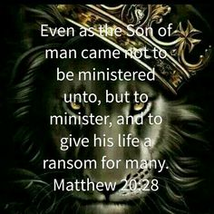 The Son of man...