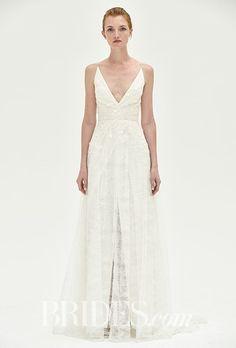 """Malia"" lace wedding dress with v-neckline, Christos"