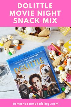 This is the perfect time to pick up the Dolittle DVD at Walmart and make this fun & delicious Dolittle Movie Night Snack Mix! Movie Night Snacks, Movie Night Party, Family Movie Night, Colored Popcorn, Popcorn Bar, Frosted Animal Crackers, Harry Potter Snacks, Easy Movies, Homemade Pretzels