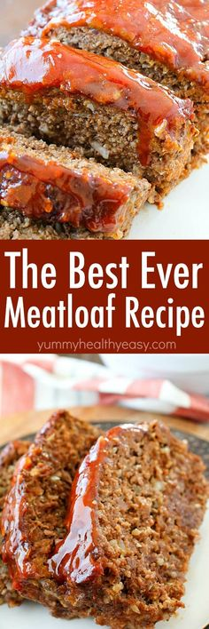 This Meatloaf Recipe is my family's FAVORITE Sunday night dinner! It really is the Best Ever Meatloaf, and it is incredibly easy to make. So much flavor packed inside with a delicious glaze spread on the top!  via @jennikolaus