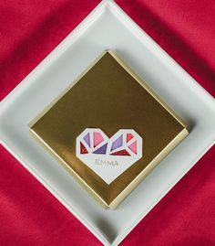 Faceted Heart Place Cards - Confetti Pop