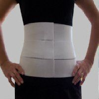 """9"""" Three Panel-Elastic Abdominal Binder & Waist Trimmer Small by AlphaBrace. $14.95. The Three Panel-Elastic Abdominal Binder and Waist Trimmer is made from light weight, breathable elastic. The low profile of the elastic makes it discrete and comfortable. The panel elastic allows the support to move with the body and helps it stay in place even when going back and forth from sitting to standing. The sturdy elastic provides compression to the abdomen for a multitud..."""