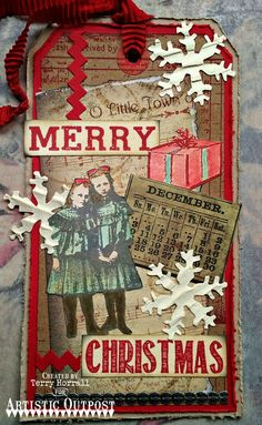 Stamps - Artistic Outpost Ephemera Backgrounds, Birds of a Feather, Christmas Chalk