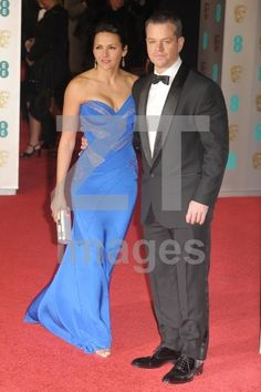 Matt Damon and Luciana Barroso at EE British Academy Film Awards held at The Royal Opera House. London, England - 14.02.2016. Credit: ztimages.com, set: BAFTAs 14022016