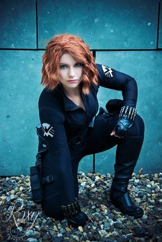 Black Widow - The Avengers, NanaItoe Cosplay Homo, Black Widow Marvel, Female Reference, Marvel Cosplay, Scarlet Witch, Best Cosplay, Captain Marvel, Cosplay Girls, Hollywood Model
