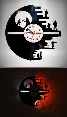 Star Wars Wall Clock #ad #clock #wallclock #starwars #handmade #etsy #etsyfinds #etsygifts Life Hacks Youtube, Starwars, Clocks, Wall, Fun, Handmade, Etsy, Products, Star Wars