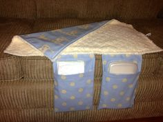 Baby Changing Pad and Diaper Clutch in Blue by OhhSewSweetByJess, $24.00