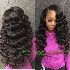 Sew In Hairstyles fake hair friday Beautiful Sew In With Voluminous Waves Hand Curled By Yours Truly Please Note