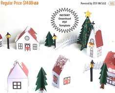CIJ SALE Christmas Village Display DIY Christmas by byTheArtBug