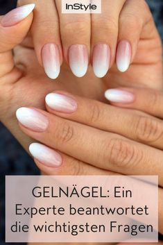 9 Fragen, die du zu Gelnägeln schon immer hattest – ein Experte antwortet There are many questions and myths surrounding gel nails. All answers to Gel Nails. Nail Art Designs, Ombre Nail Designs, Nail Manicure, Gel Nail Polish, Gel Nails, French Nails, Nails First, Diamond Nails, Nagel Gel