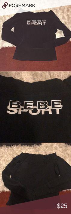 "BEBE SWEATER Bebe sweater. ""Bebe sport"" printed on back bebe Sweaters"
