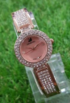 All Over Stone Encrusted Pretty in Pink Watch A True Gift For Your Love
