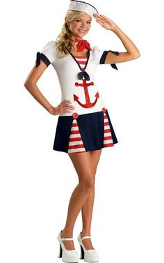 Sassy Sailor Costume for Teen Girls - Halloween City Cute for Halloween