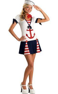 Sassy Sailor Costume for Teen Girls-Halloween City