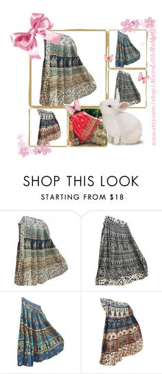 """""""Bohemian Cotton Maxi Skirts"""" by india-trendzs ❤ liked on Polyvore featuring dress, wrapskirt, cottonskirt and wraparoundskirt"""
