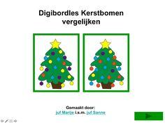 Digibordles - Kerstbomen vergelijken.