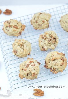 Gluten Free Butter Pecan Caramel Cookies http://fearlessdining.com