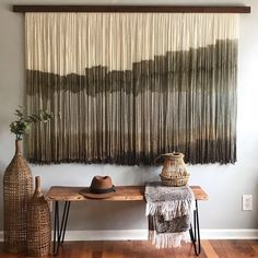 """Savanna"" by Vita Boheme Studio at Private Residence, West Palm Beach Macrame Wall Hanging Diy, Hanging Wall Art, Diy Home Decor, Room Decor, Wall Decor, Macrame Design, Decoration, Inspiration Wall, Living Spaces"