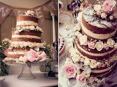 Nude Wedding Cake #weddingcake #vintagewedding Photography by www.melleweddingphotography.com.au