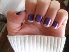 purple w/ silver tips