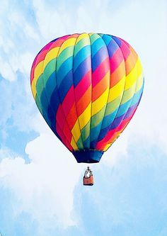 Fly Free – Hot Air Balloon – Painting by Abie Davis (The Minion .