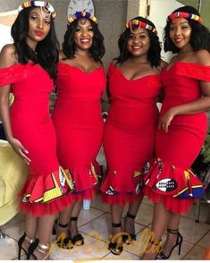 Vol Wanna Be Chicy? Try This Top 50 AsoEbiBella & EB Fabulous Look Style- You can examine all tattoo models and print them out. African Bridesmaid Dresses, African Wedding Attire, African Attire, African Wear, Xhosa Attire, African Weddings, Bridesmaid Outfit, African Style, African Beauty