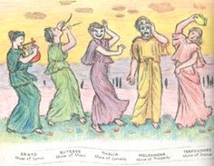 Muses, part II, from D'Aulaires' Book of Greek Myths
