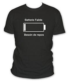 L'abricot blanc - T-shirt humour geek Batterie faible besoin de repos - Manches courtes - Couleur Noir - Taille L L'abricot blanc http://www.amazon.fr/dp/B00OOTV3SQ/ref=cm_sw_r_pi_dp_AKd0vb0BFAE5F