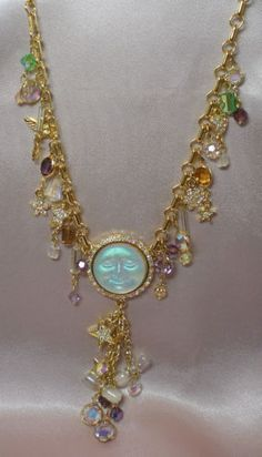 Kirk's Folly Seaview Moon Charm Necklace, Fairies, Hour glass, Stars, Hearts